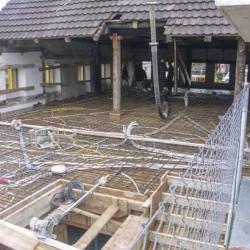 1. Obergeschoss wird betoniert