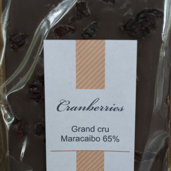 Grand cru Maracaibo 65% Cranberries